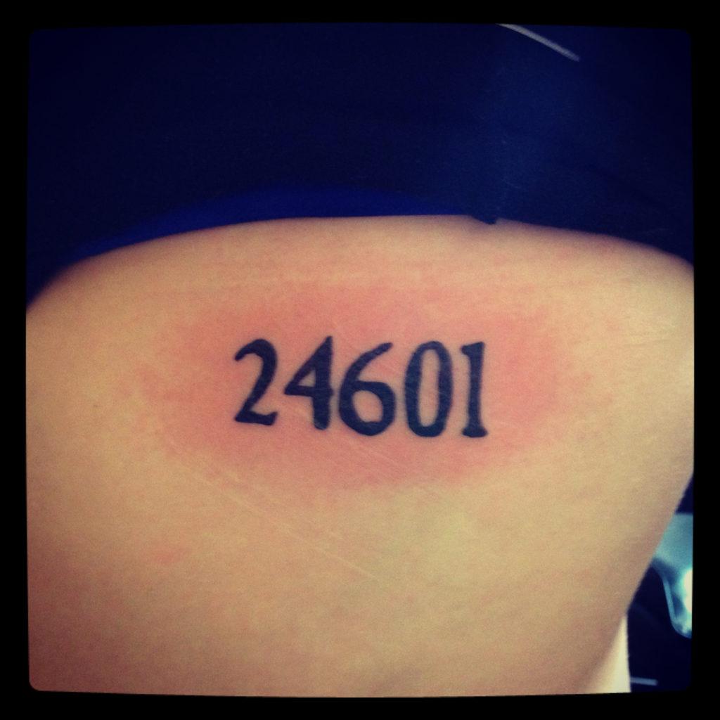 Les Mis tattoo, photo courtesy Beth Evans via Pinterest