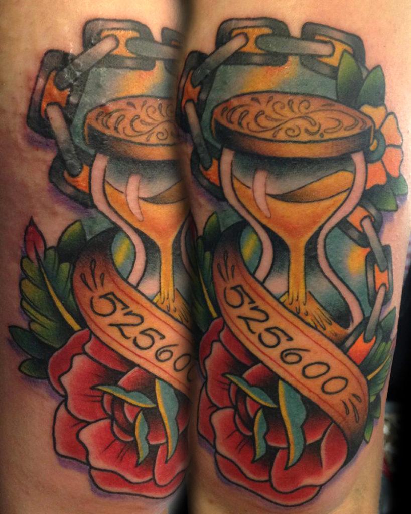 RENT tattoo, artist Das Frank, photo credit Studio 21 Tattoo Gallery