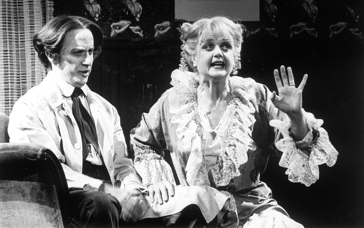 "Photot Credit: Jack Buxbaum. George Hearn and Angela Lansbury in the national touring production of ""Sweeney Todd"" (photo ran in 1980 and 1989)."