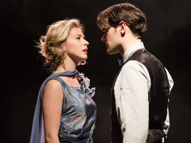Photo Credit: Zoe Doano and Chris Peluso in Death Takes A Holiday