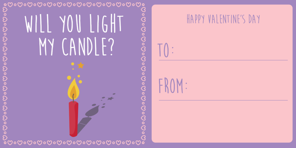 Light my candle - Card