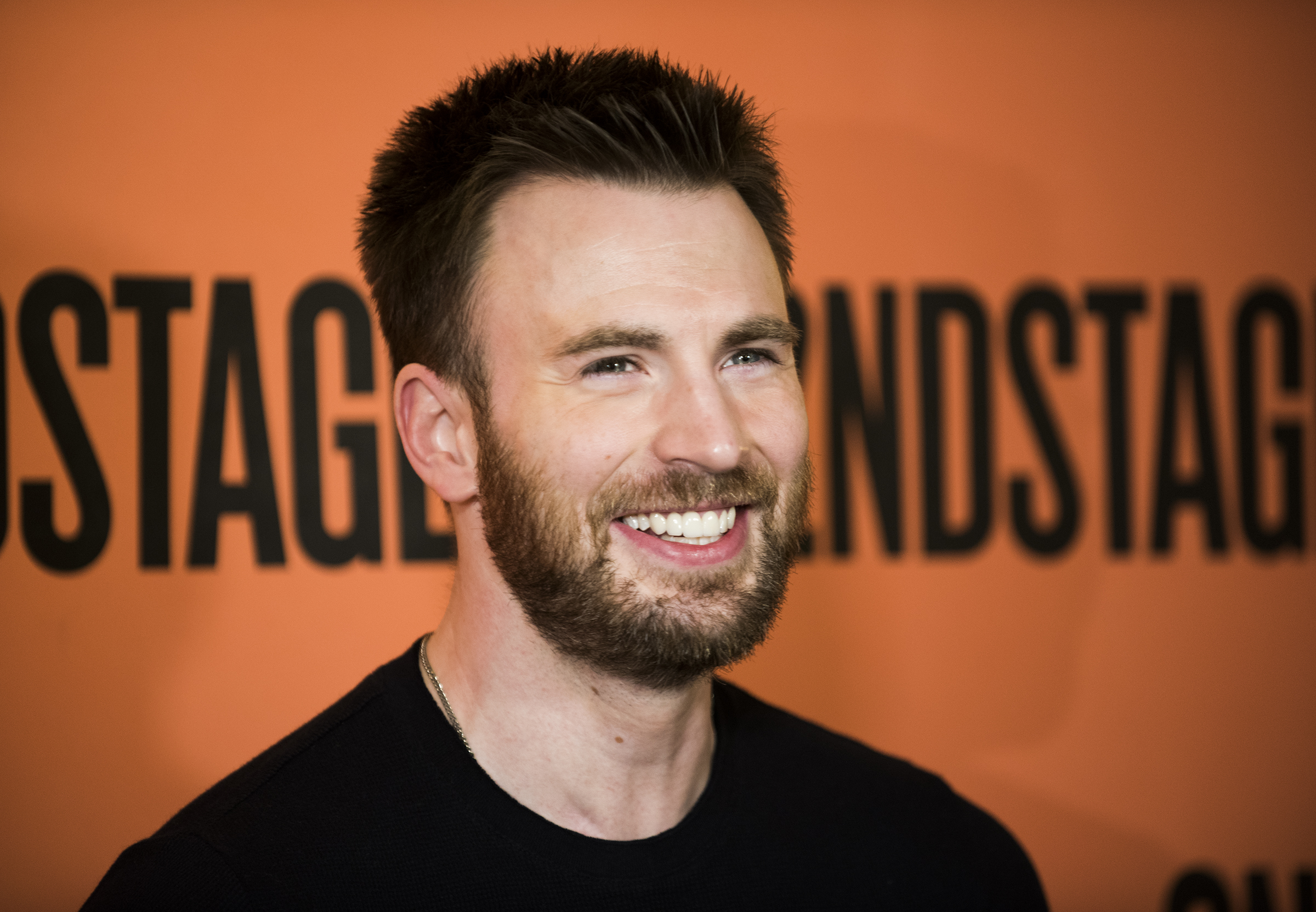 Chris evans and the cast of lobby hero meet the press todaytix chris evans photographed by jenny anderson m4hsunfo