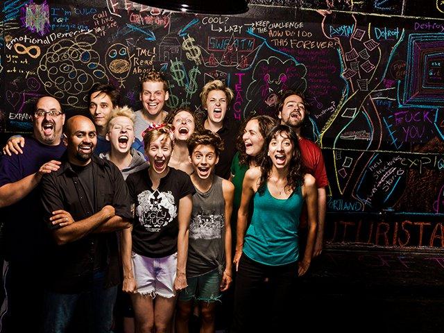 The Neo-Futurist ensemble ca. 2013, photo courtesy Joe Mazza