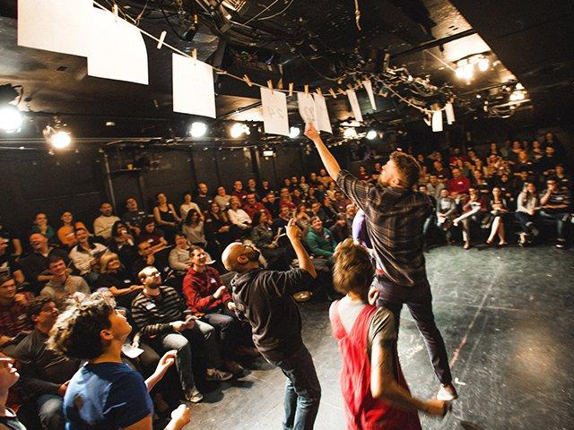 mid-performance of TMLMTBGB, photo courtesy Joe Mazza