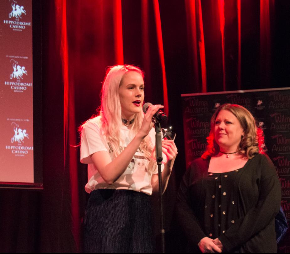 Elen Skye and Catherine Millsom accept an award