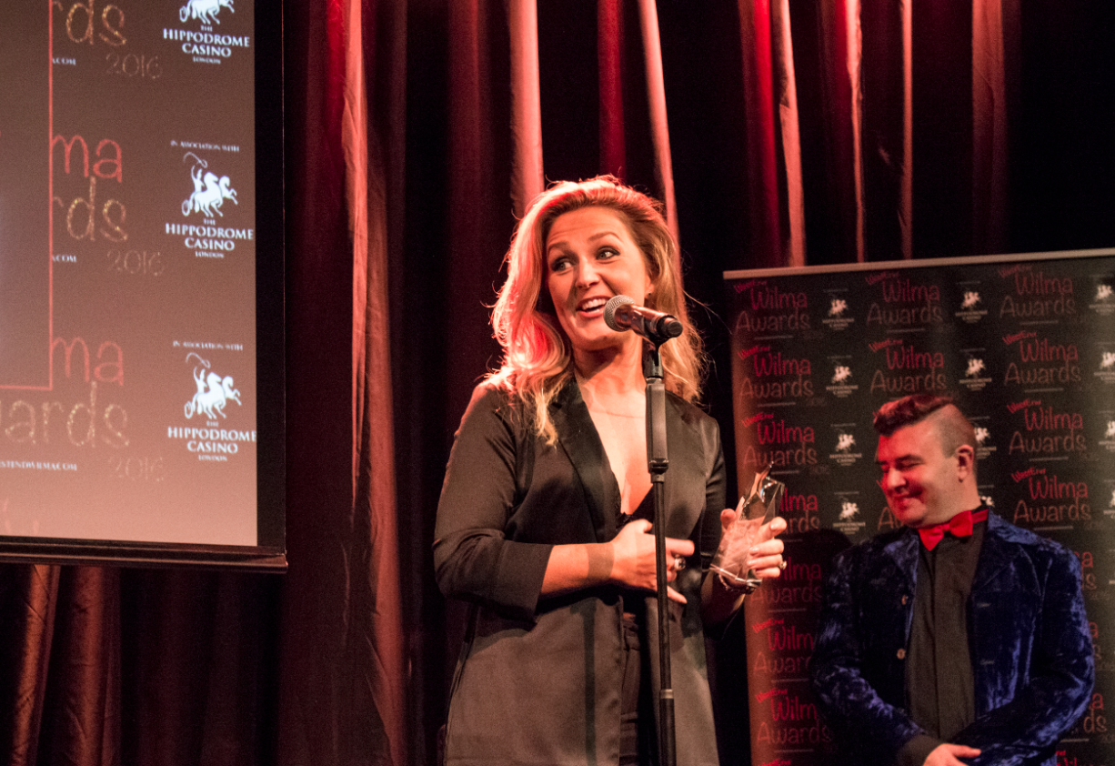 Mamma Mia! star Maz Murray had us in fits as she accepted her award, telling the audience about a naughty song she once sang at an audition.