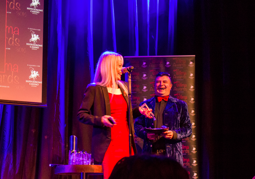 Tracie Bennett, star of Mrs Henderson Presents, gave a sweet speech about looking up 'underrated' on Urban Dictionary.
