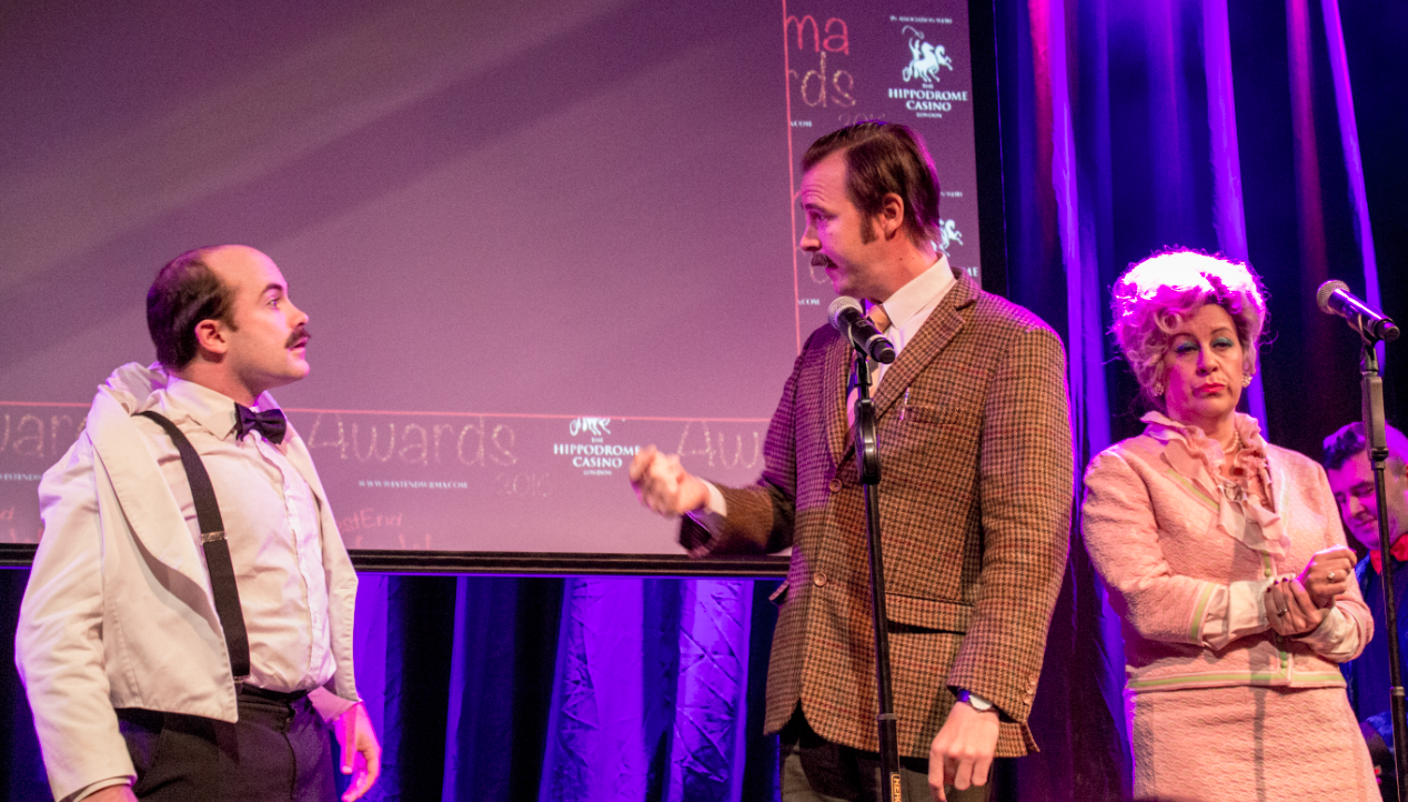 The Fawlty Towers cast had us giggling as they presented an award.