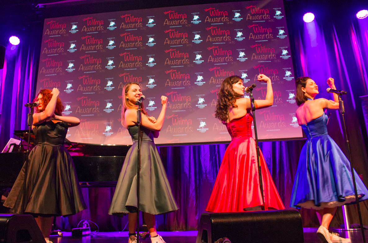 The Four Femmes On The Thames had the audience howling with their raunchy performance.