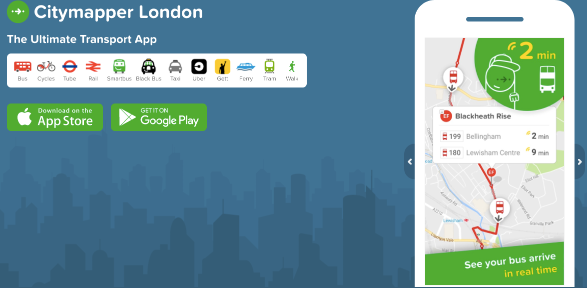 citymapper london app todaytix