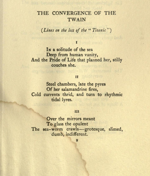 convergence twain essay hardy The convergence of the twain by thomas hardy about this poet one of the most renowned poets and novelists in english literary history, thomas hardy was born in 1840.