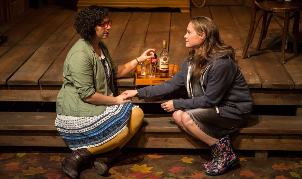 Danielle Zuckerman and Chaon Cross, photo credit Lookingglass Theatre