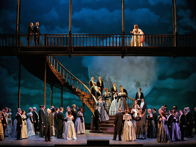 Photo Credit: Mary Zimmerman's production of Lucia Di Lammermoor at the MET, Cory Weaver