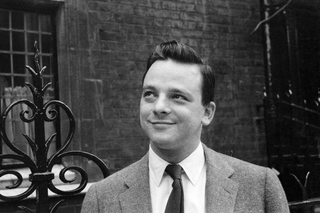 August 28, 1962: American songwriter Stephen Sondheim, whose works include the musicals A Funny Thing Happened on the Way to the Forum, Into the Woods and Passion. (Photo by Michael Hardy/Express/Getty Images)