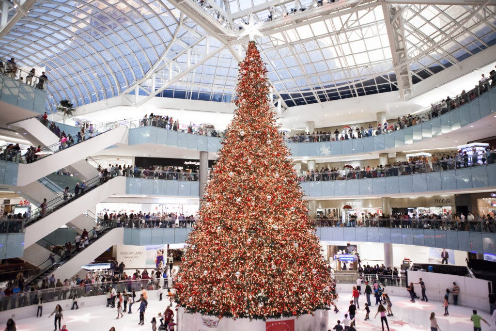 everythings bigger in texas and that includes christmas trees the one at galleria dallas is the largest indoor tree in the country measuring four