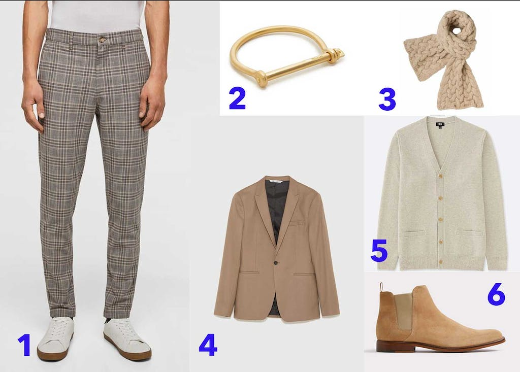 1baeb4fad809 Guys, leave the reindeer jumpers to Mark Darcy! Opt instead for a cool-guy  take on the holiday sweater. Choose a neutral cardigan (buttoned all the  way up!) ...